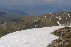 na szczycie Magoro - a w dole Jezioro Prespańskie