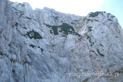 ściana Maglic widziana z dołu