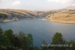 przejazd przez Bośnię i Hercegowinę - sztuczne jezioro po drodze