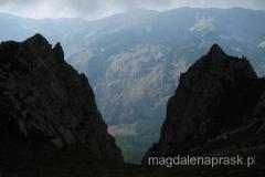 widoki z ostatniego podejścia na szczyt