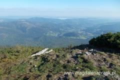 widok na Beskidy z szczytu Małej Babiej Góry