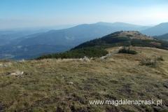 widok z szczytu Małej Babiej Góry