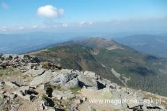 widok ze szczytu Babiej Góry