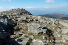 schodzę... ostatnie spojrzenie na kopułę szczytową Babiej Góry