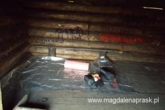 moje legowisko w bacówce na Hali Mędralowej