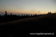 podziwianie zachodu słońca z Hali Mędralowej