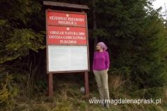 wchodzimy na teren Rezerwatu Przyrody Mogielica