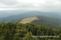 na wieży widokowej na szczycie Mogielicy - widok na Halę Stumorgową