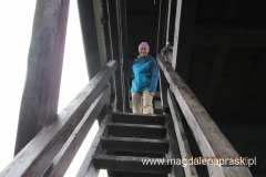 na wieży widokowej na szczycie Mogielicy
