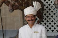 portier w hotelu Tadż Mahal