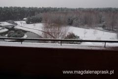 w nocy spadł śnieg - rano Ossa powitała nas w białej szacie