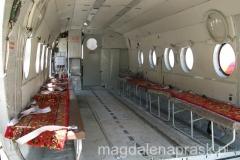 wnętrze helikopteru, którym polecimy na Polanę Moskwina