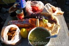 podczas pobytu w górach jesteśmy zdani na własne jedzenie - jak widać całkiem niezłe zasoby