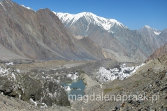 góry otaczające obóz bazowy, Pamir
