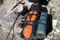 mój plecak przed kolejnym wyjściem w góry