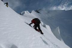 w drodze na szczyt, czasami trzeba było iść niemal na czworaka