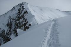 widać już szczyt Piku Korżeniewskiej