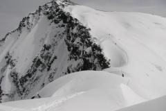 w drodze na szczyt Piku Korżeniewskiej, Pamir