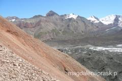 góry Pamiru widziane z drogi do Obozu I