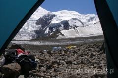 widok z naszego namiotu w Obozie I