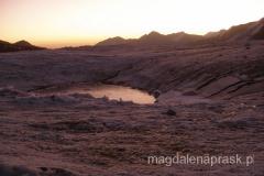 wschód słońca na lodowcu