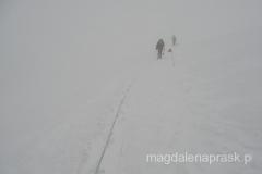 pogoda się załamała - zejście do Obozu I w totalnej mgle