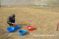 po zejściu z Obozu III do Bazy - wreszcie zielona trawka i można zrobić pranie
