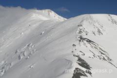 grań prowadząca na szczyt Piku Lenina (ale do szczytu tą granią idzie się 7 km)