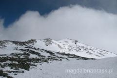 około godziny 15.00 pogoda się załamała - widoki ze szczytu nas ominęły