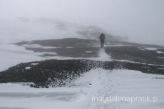 na dół do Obozu III schodziliśmy już w śnieżycy