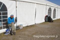namiot - stołówka w Bazie - w każdej wolnej chwili uzupełniam notatki