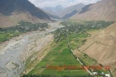 widok z helikoptera na okolicę Jirgital
