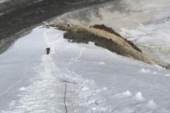 śnieżny fragment tuż przed Obozem 1