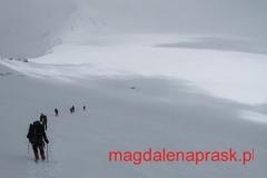 zejście z 6.100m npm na Pamirskie Palto gdzie na 5.800m npm założyliśmy Obóz 2