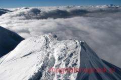 po drodze, zejście ze szczytu