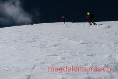 podejście z Pamirskiego Palto na wysokość 6.100m npm