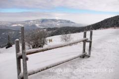 widok z Hali Miziowej na Babią Górę