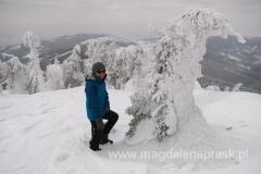 dochodząc na szczyt Pilska