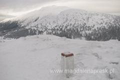 widok z Małej Babiej Góry na Babią Górę
