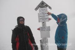 na szczycie Babiej Góry 1.725m npm