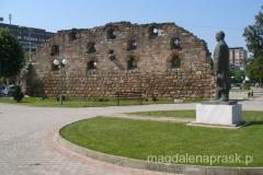 centrum Prilep - pozostałości murów starej tureckiej łaźni