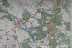 mapa okolic - widać też naszą trasę wzdłuż brzegu Warty