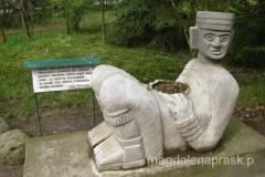 ołtarz ofiarny Azteków, na którym składano ofiary z ludzi - w Meksyku widziałam oryginał