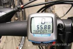 nasz dzienny przebieg: ok 56 kilometrów - w sam raz aby jeszcze mieć z tego przyjemność