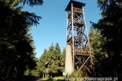 wieża widokowa i obelisk na szczycie Radziejowej (1.262m npm)