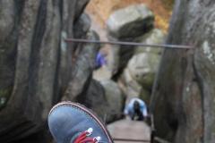 schody prowadzące do ruin Zamku Strmen