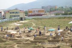 dużo ludzi pracuje na tym stanowisku archeologicznym