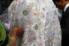 piękny strój Panny Młodej