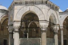 na dziedzincu Błękitnego Meczetu