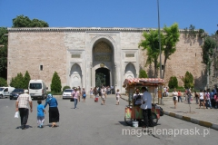 Brama Cesarska - pierwsza brama prowadząca do Pałacu Topkapi